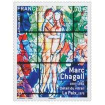 2017 Marc Chagall 1887-1985 - Détail du vitrail La Paix 1976