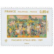 2017 Philippines - France - Macario Vitalis 1898 - 1989