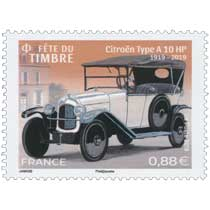 2019 Fête du Timbre 2019  Citroën Type A 10 HP 1919-2019