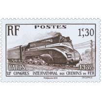 2019 Patrimoine de France - PARIS 1937 13e CONGRES INTERNATIONAL DES CHEMINS DE FER
