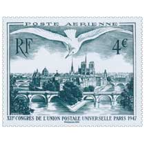 2020 Poste Aérienne - XIIe Congrès de l'Union Postale Universelle Paris 1947