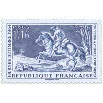2020 Patrimoine de France - JOURNÉE DU TIMBRE 1964 COURRIER A CHEVAL, XVIIIe SIÈCLE