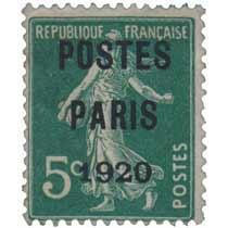 1920 POSTES PARIS