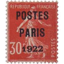 1922 POSTES PARIS