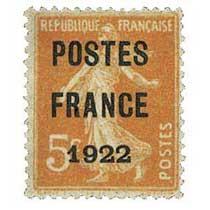 1922 POSTES FRANCE