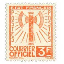 COURRIER OFFICIEL - type francisque