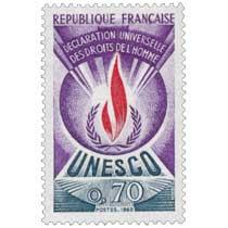 1969 UNESCO DÉCLARATION UNIVERSELLE DES DROITS DE L'HOMME