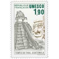 1986 Unesco TEMPLE DE TIKAL. GUATEMALA