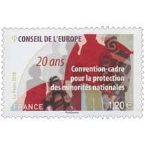2018 CONSEIL DE L'EUROPE Convention-cadre pour la protection des minorités nationales 20 ans