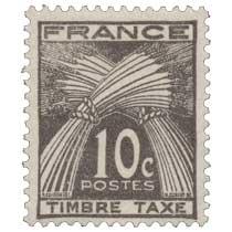 TIMBRE TAXE - type gerbes de blé