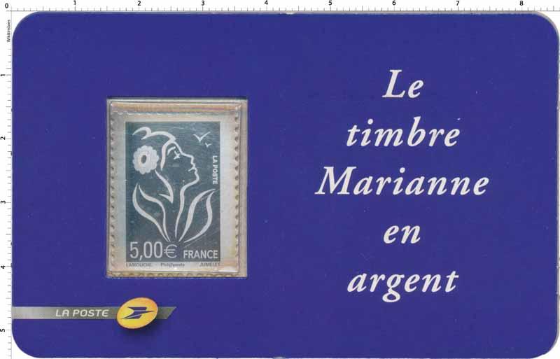 Le timbre Marianne en argent