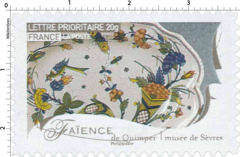 Timbre  Faïence de Quimper musée de Sèvres  WikiTimbres