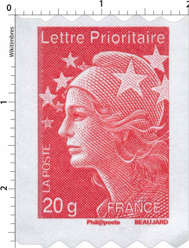 lettre timbre Timbre : Lettre Prioritaire   type Marianne de Beaujard | WikiTimbres lettre timbre