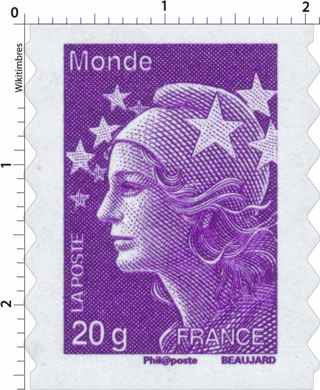 Monde - type Marianne de Beaujard