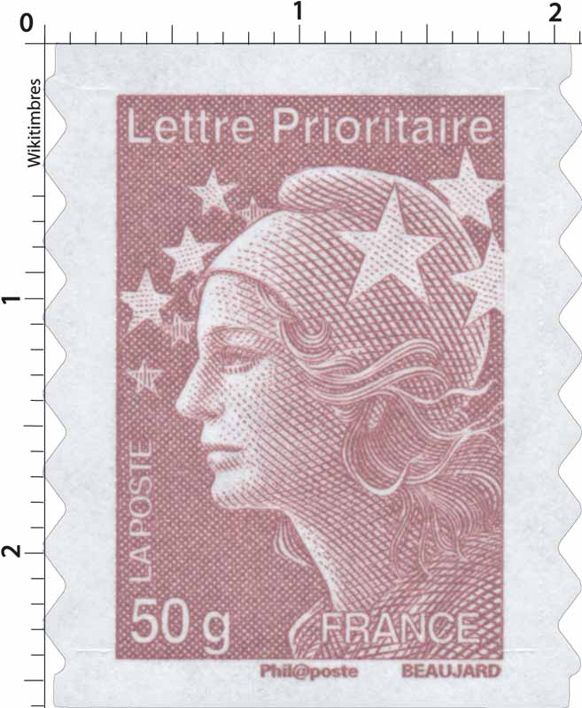 Lettre Prioritaire - type Marianne de Beaujard