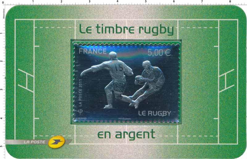 2011 Le Timbre rugby en argent