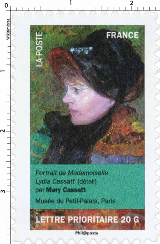 Portrait de Mademoiselle Lydia Cassatt (détail) par Mary Cassatt, musée du Petit-Palais, Paris