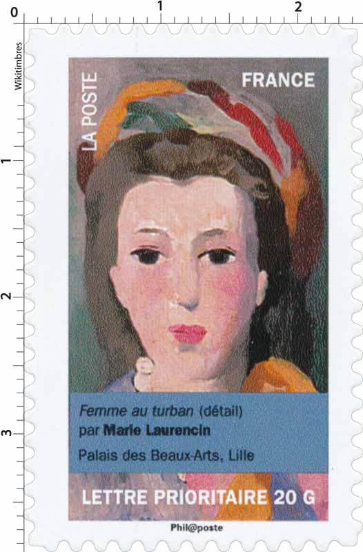femme au turban (détail) par Marie Laurencin, palais des Beaux-arts, Lille