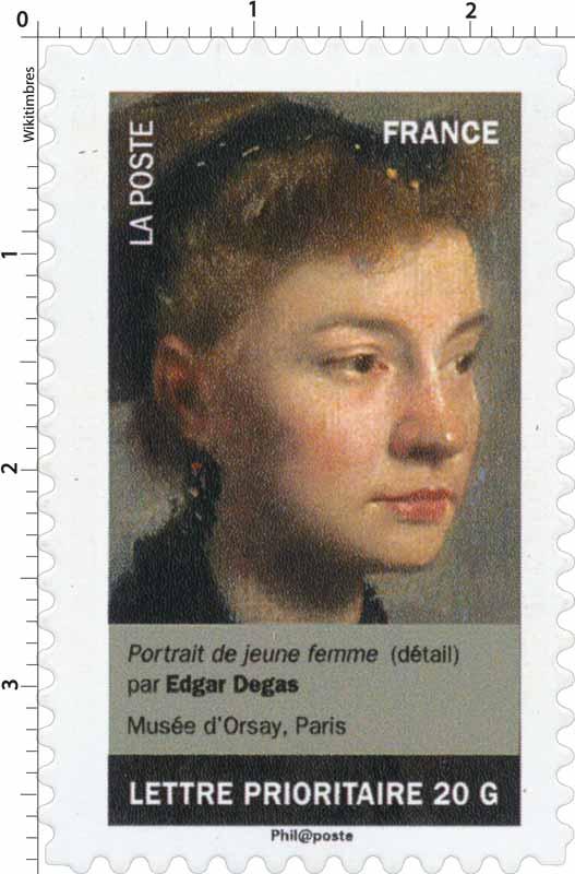 portrait de jeune femme (détail) par Edgar Degas Musée d'Orsay, Paris