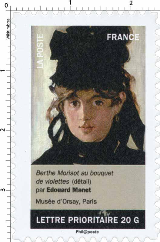 Berthe Morisot au bouquet de violettes (détail) par Édouard Manet, Musée d'Orsay, Paris