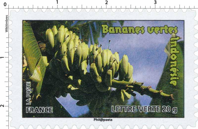 Bananes vertes Indonésie