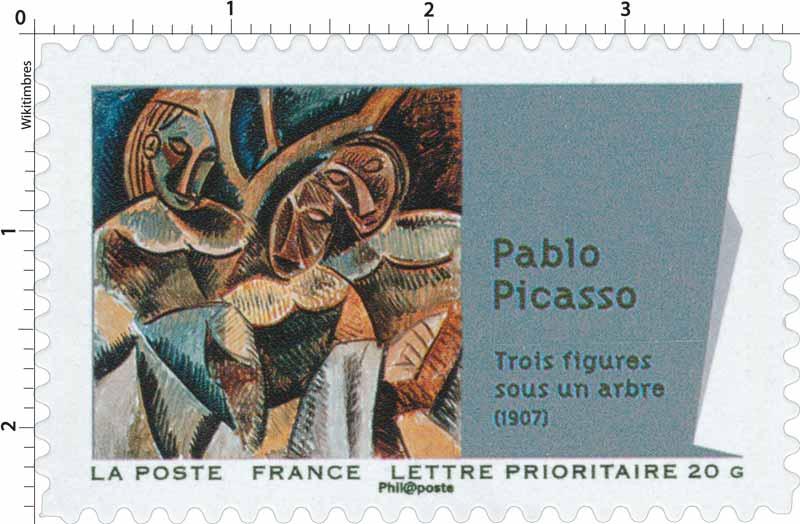 Pablo Picasso trois figures sous un arbre (1907)