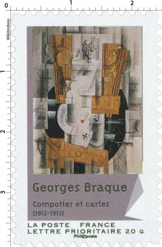 Georges Braque Compotier et cartes (1912-1913)