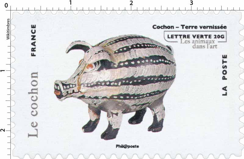 Cochon - Terre vernissée - les animaux dans l'art