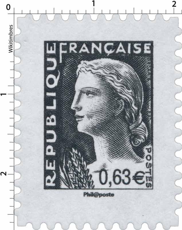 Sans légende particulière - Type Marianne de Decaris