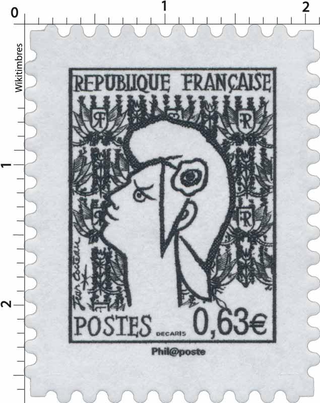 Sans légende particulière - type Marianne de Cocteau