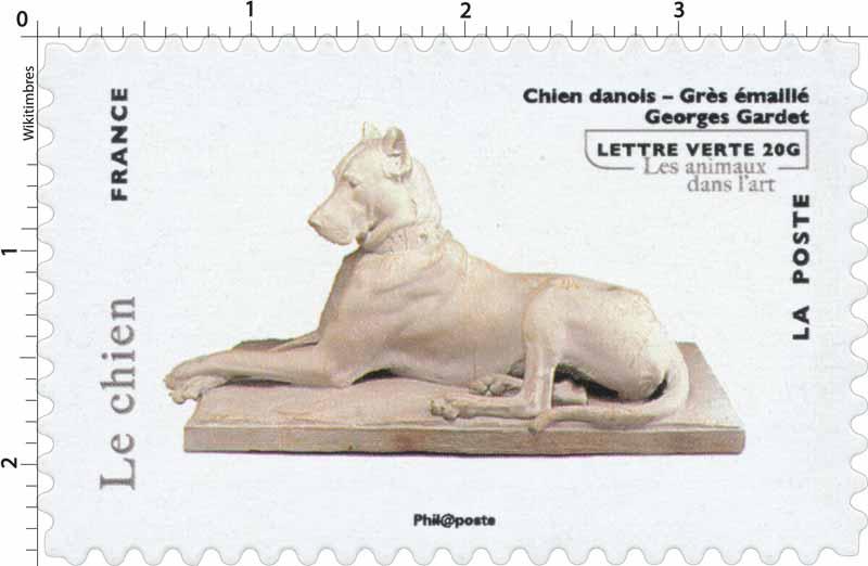 Le chien - Chien danois - Grès émaillé - Georges Gardet - Les animaux dans l'art