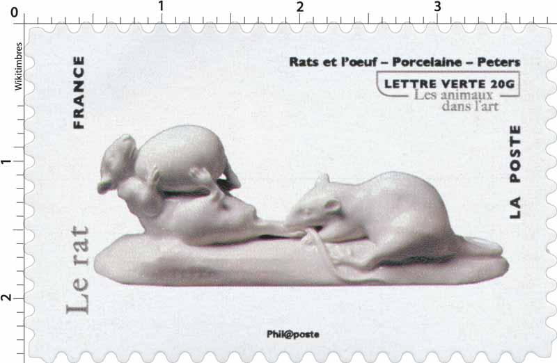Le rat - Rats et l'oeuf - Porcelaine - Peters - Les animaux dans l'art