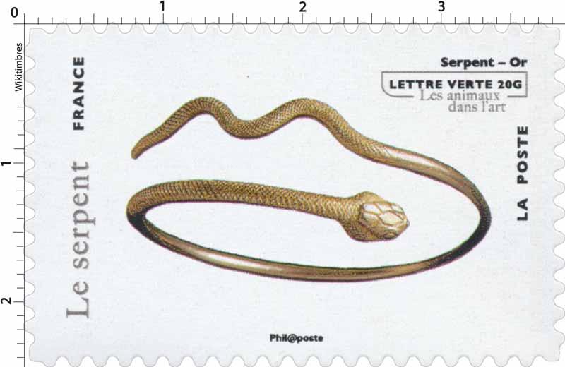 Le serpent - Serpent - Or - Les animaux dans l'art