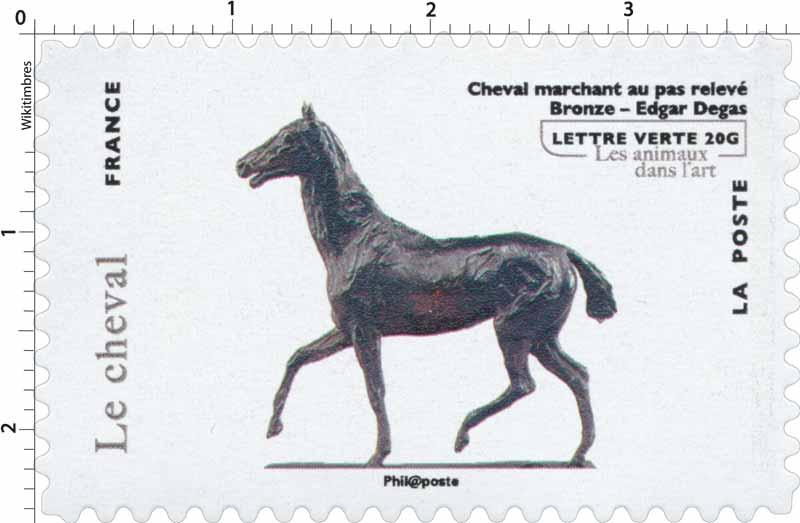 Le cheval - Cheval marchant au pas relevé - Bronze - Edgar Degas - les animaux dans l'art