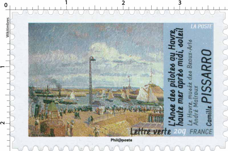 L'Anse des pilotes au Havre haute mer après midi soleil Le havre musée des beaux arts André Malraux Camille Pissarro