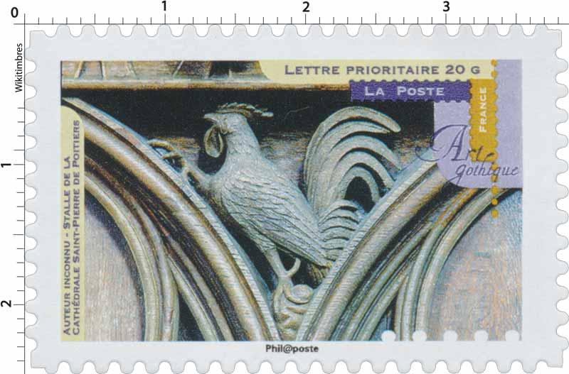 timbre 2013 art gothique stalle de la cath drale saint pierre de poitiers wikitimbres. Black Bedroom Furniture Sets. Home Design Ideas