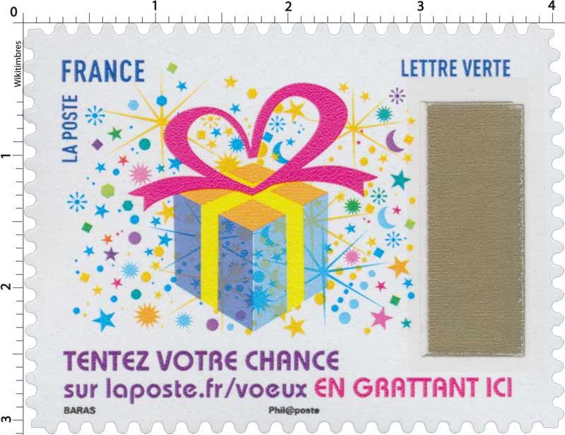2017 Le Timbre à gratter : Tentez votre chance sur laposte.fr/voeux . EN GRATTANT ICI