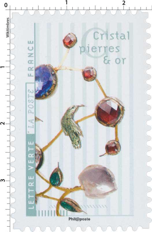 2017 Cristal pierres et or
