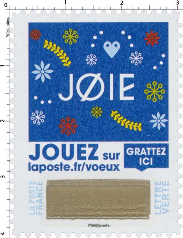 2018 Joie - Jouer sur laposte.fr/voeux - Gratter ici