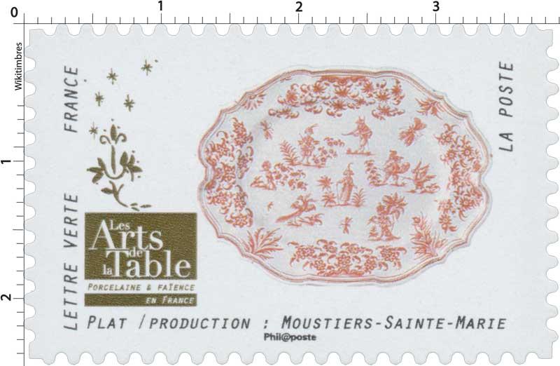 2018 Les Arts de la Table -  Porcelaine & Faïence - En France - Plat / Production: Moustiers-Sainte-Marie