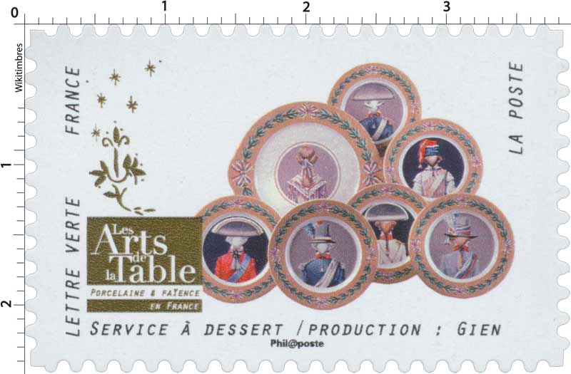 2018 Les Arts de la Table -  Porcelaine & Faïence - En France - Service à dessert / Production: Gien