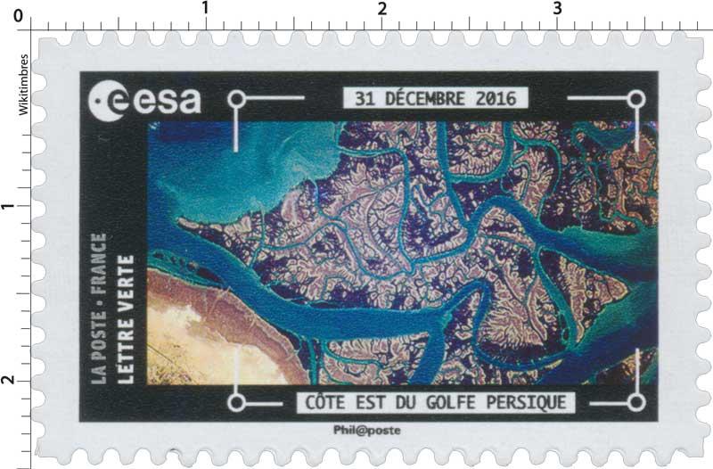 2018  ESA - 31 décembre 2016 - Côte est du golf Persique