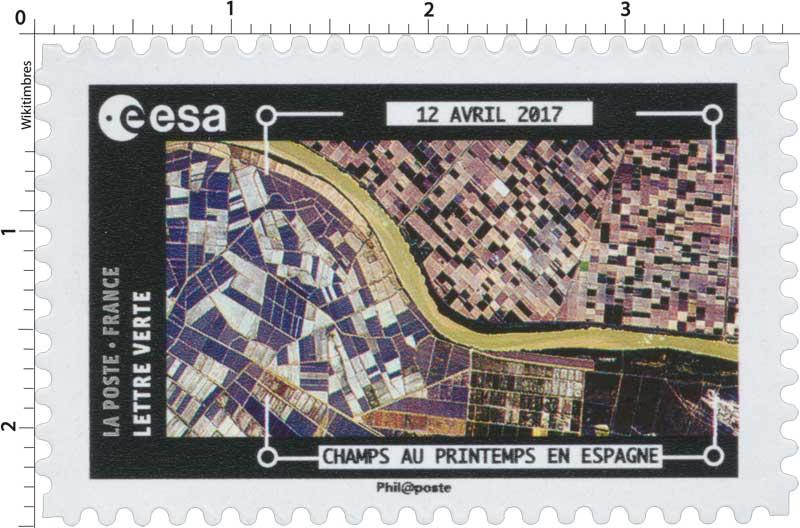 2018  ESA - 12 Avril 2017 - Champs au printemps en Espagne