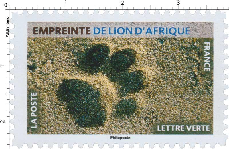 2021 Empreinte de lion d'Afrique
