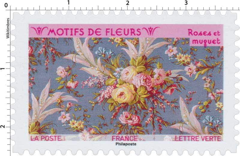2021 Motifs de fleurs - Roses et muguet