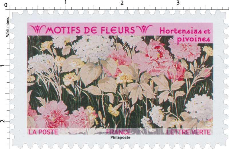 2021 Motifs de fleurs - Hortensias et pivoines