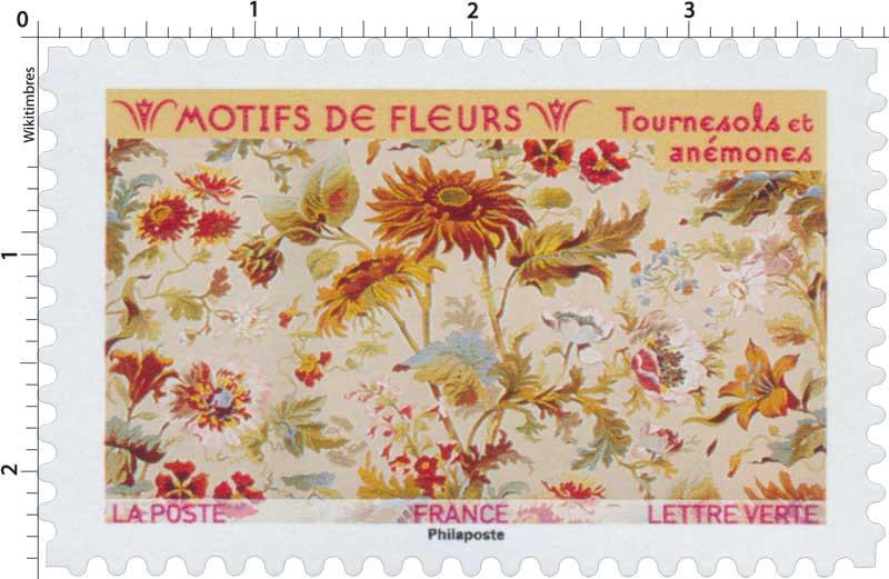 2021 Motifs de fleurs - Tournesols et anémones