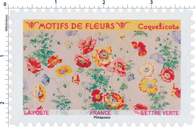 2021 Motifs de fleurs - Coquelicots