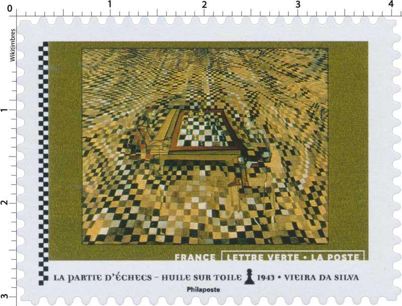 2021 La partie d'échecs - Huile sur toile 1943 - Vieira da Silva