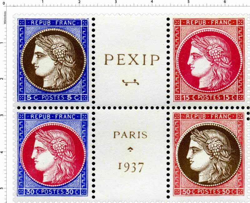 REPUB FRANC PEXIP PARIS 1937